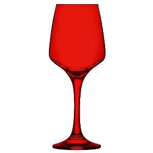 Jogo de 6 Taças em Vidro para Vinho 330ml Vermelho - YAZI