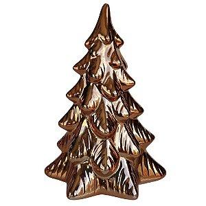 Árvore de Natal Decorativa em Cerâmica 21 cm Cobre - DEA