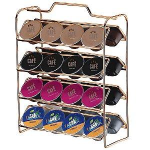 Organizador Para Cápsulas De Café Dolce Gusto Rose Gold