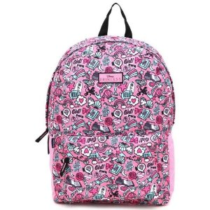 Mochila Princess Girl Power Poliéster 50cm Rosa - DERMIWIL