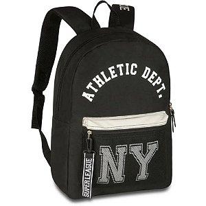 Mochila Athletic New York Poliéster 48cm Preto - Clio Sport