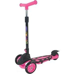 Patinete Radical Power Pink e Preto 3 Rodas - DM Toys