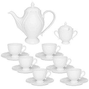 Conjunto Cafezinho Soleil White 14 Peças Porcelana - Oxford