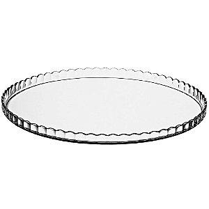 Prato para Bolo sem Pé Transparente em Vidro 32cm MYPA