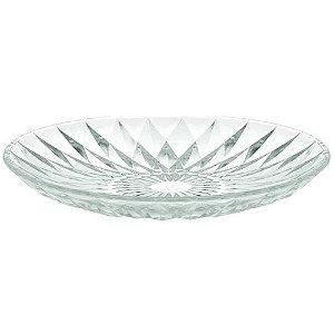 Centro de Mesa Transparente em Vidro Cristal 32 cm Wincy