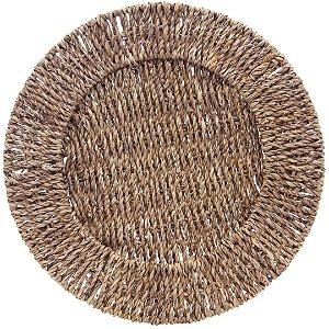 Sousplat Natural em Rattan Fibra 32 cm Marrom – Mimo Style