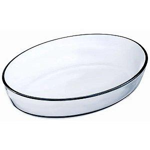 Assadeira Refratária em Vidro Oval 2,4 L Transparente