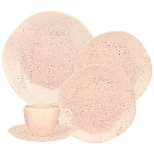 Aparelho de Jantar e Chá 20 Peças Sand Pink - Oxford