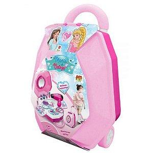 Maleta Mania de Beleza 2 em 1 Rosa – DM Toys