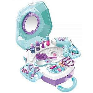 Maleta Mania de Beleza 2 em 1 Azul – DM Toys