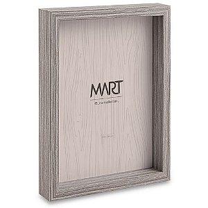 Porta Retrato Natural em MDF e Vidro 20x25 cm Cinza - Mart