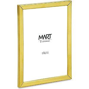 Porta Retrato em Metal e Vidro 15x20 cm  Dourado - Mart