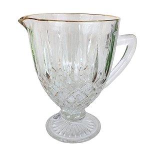 Jarra Greek Bon Gourmet Fio Dourado 1L Transparente- Rojemac