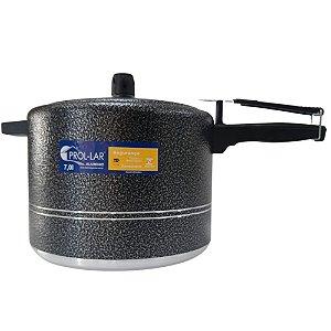 Panela de Pressão Preta Craqueada 7L  Alumínio - Prol-Lar