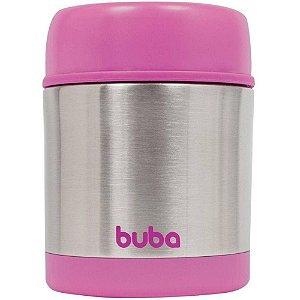 Pote Térmico p/Refeição Infantil Aço Inox 350ml Rosa - Buba