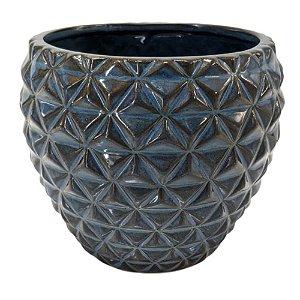 Vaso Decorativo em Porcelana 12 cm Azul – Imporiente