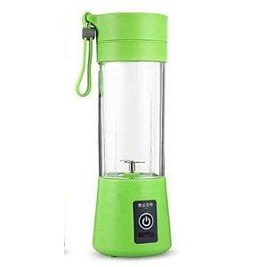 Mini Liquidificador Portátil Recarregável 380ml Verde