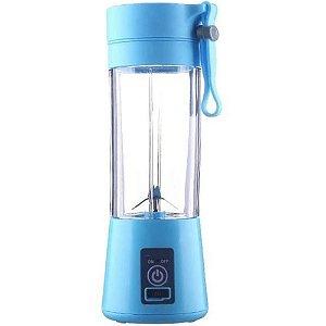 Mini Liquidificador Portátil Recarregável 380ml Azul