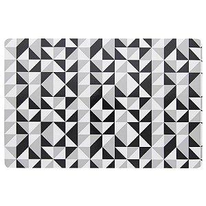 Kit Jogo Americano Print Mosaic PVC 6 Peças Retangular 44 cm