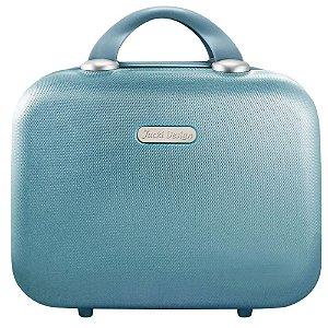 Frasqueira Cream para Viagem em ABS Azul Celeste Jack Design