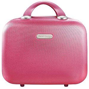 Frasqueira Cream para Viagem em ABS Pink Jack Design
