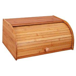 Porta Pão Em Bambu Com Tampa De Correr - Dinasty