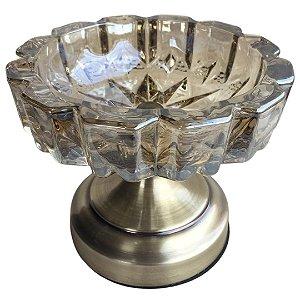 Bomboniere Decorativa com Pé em Vidro 13cm Âmbar – Bela Flor