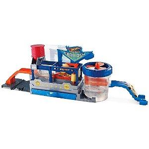 Pista Hot Wheels Mega Lava-Rápido com Carrinho Color Mattel