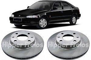 Disco Freio Dianteiro Honda Civic 1.3 1.5 1991 a 1998 Par