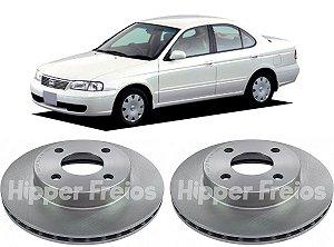 Disco Freio Dianteiro Nissan Sentra 1.6 16V 1991 a 1995 Par
