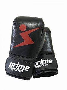 Luva de Boxe Prime Esportes - Knockout Preta e Vermelha