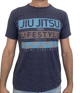 Camiseta T-Shirt JiuJitsu Life Style Azul