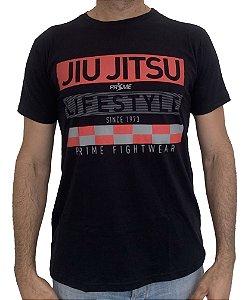 Camiseta T-Shirt JiuJitsu Life Style Preta