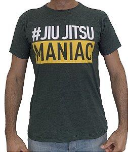 Camiseta T-Shirt Jiu Jitsu Maniac Verde