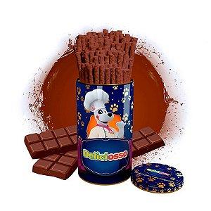 Osso Deliciosso sabor Chocolate - Palito Fino para Cães - 410g