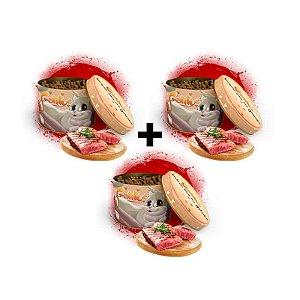 KIT 3 Latas - Bifinho Sabor Carne - 100g cada (300g no Total)