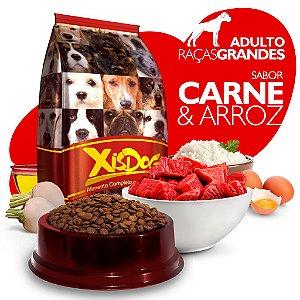 Alimento High Premium Completo - Xisdog - Adulto Raças Grandes - Carne - Cada unidade = 1kg