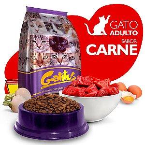 Alimento High Premium Completo Gatitus - Adulto - Carne - Cada unidade = 1kg