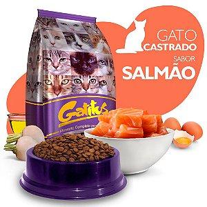 Alimento High Premium Completo Gatitus - Adulto Castrado - Salmão - Cada unidade = 1kg