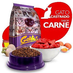 Alimento High Premium Completo Gatitus - Adulto Castrado - Carne - Cada unidade = 1kg