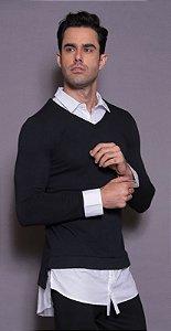 Camisa Social com Sueter Teselli by linha Pargan