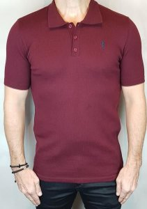 Camisa Polo Teselli by Zip Off Algodão Retilíneo Bordo
