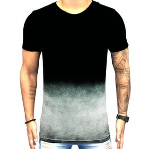 Camiseta Teselli by Paradise Degrade Preta