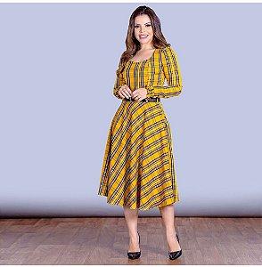 vestido xadrez joy