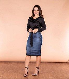 saia jeans confort blak