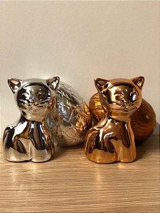 Gato cerâmica + Mini Ovinho