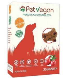 BISCOITO PET VEGAN - CRANBERRY