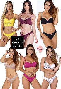 Kit revenda com 20 conjuntos de lingerie (variados)