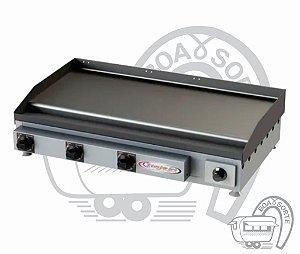 Chapeira Para Lanches Profissional Chapa Inox 85x45