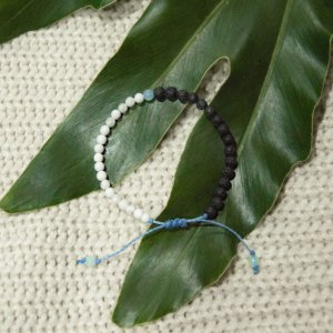 Pulseira Yin Yang Azul para Aromaterapia